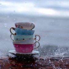 Teacups in Rain